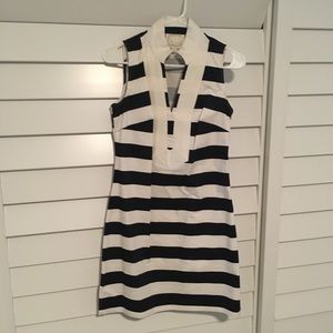 Sail to Sable navy and white striped shift